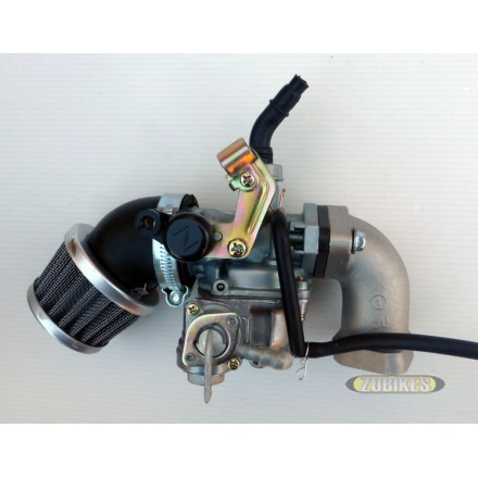 Kit carbu PZ19 + filtre coudé + pipe avec robinet