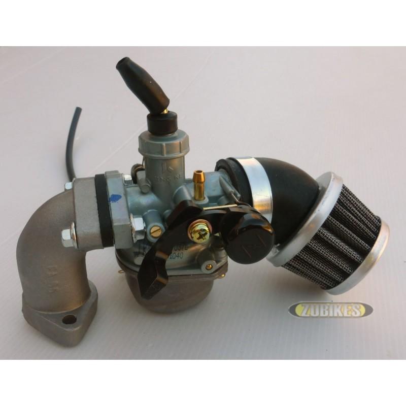 Kit carbu PZ19 + filtre coudé + pipe ss robinet