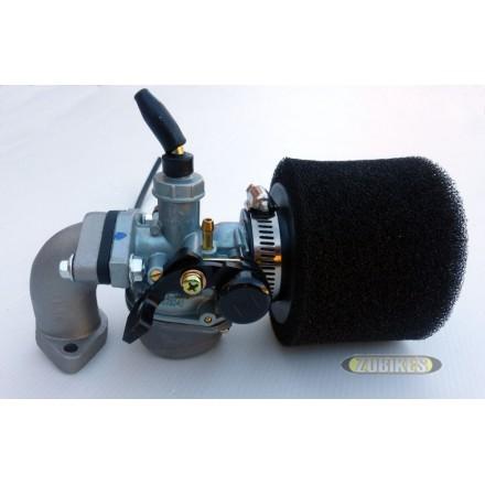 Kit carbu PZ19 + filtre mousse + pipe ss robinet