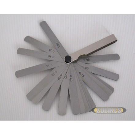 Jeu de cales d'épaisseur 0,05 à 1 mm