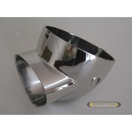 Bloc optique petit modèle Dax Chrome 124mm