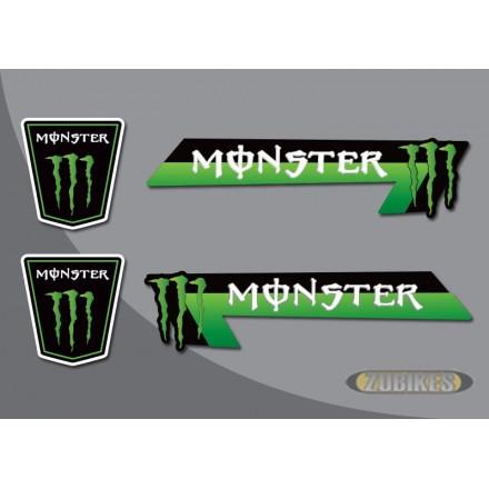 """Sticker """"MONSTER"""" pour cadre Dax (le jeu de 4)"""