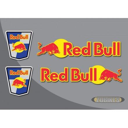 """Sticker """"RED BULL"""" pour cadre Dax (le jeu de 4)"""