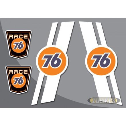 """Sticker """"RACE 76"""" pour cadre Dax (le jeu de 4)"""