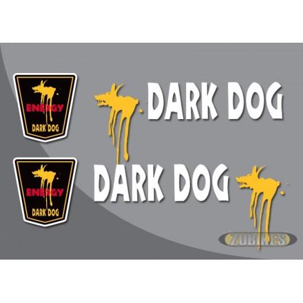 "Sticker ""DARK DOG"" pour cadre Dax (le jeu de 4)"