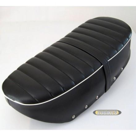 Selle Dax 12V Molleton Noir Liseré Blanc