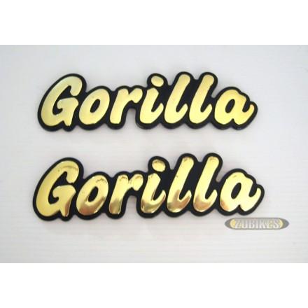 Emblême de réservoir Gorilla Or