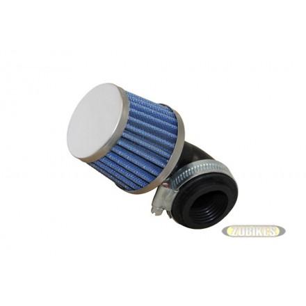 Filtre cornet court bleu coudé à 90° 35mm PZ17 PZ19