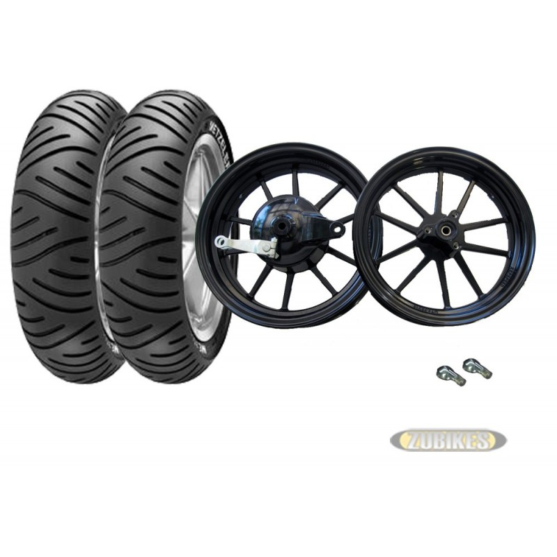 kit roues 12 kepspeed noir metzeler me7 teen 120 70 12. Black Bedroom Furniture Sets. Home Design Ideas