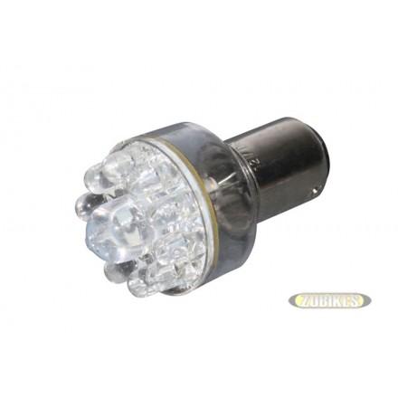 Ampoule AR Gros Leds BAY15D 12V Rouge (un)