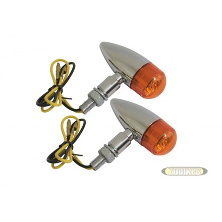 Cligno Vintage Chrome-Orange  (la paire)