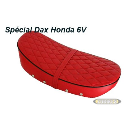 "*Selle Dax 6V basse ""Diamond"" Rouge"