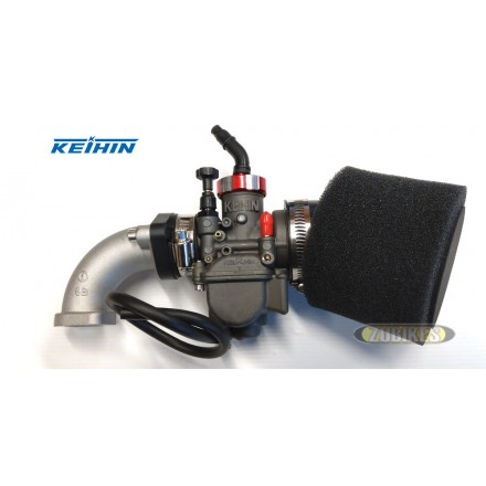 Kit carbu Keihin PE 24 Poli + Filtre Mousse + pipe