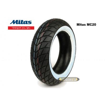 Pneu Mitas MC20 120/70-10 flancs blancs