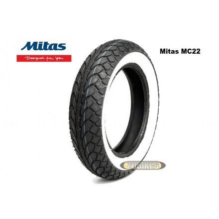 Pneu Mitas MC22 110/80-10 flancs blancs
