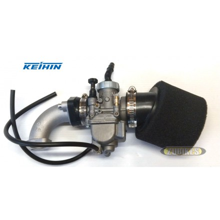 Kit carbu Keihin PE 24 + Filtre Mousse + pipe