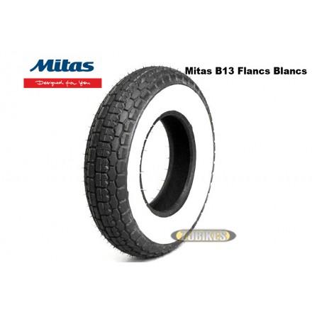 """Pneu Mitas B13 4.00-8"""" 66J TT Flancs Blancs"""