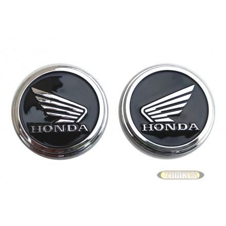 """Ecussons de réservoir  Rond """"Ailes Honda"""" 50mm 3D (la paire)"""