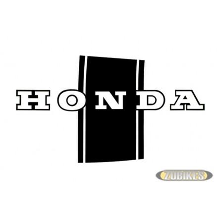 """Sticker Dax """"HONDA"""" noir/blanc (D+G)"""