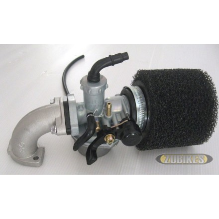 Kit carbu PZ22 + filtre mousse + pipe