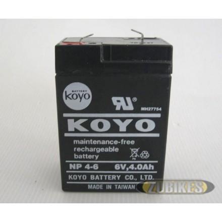 Batterie 6V4Ah Gel NP4-6 sans entretien Dax