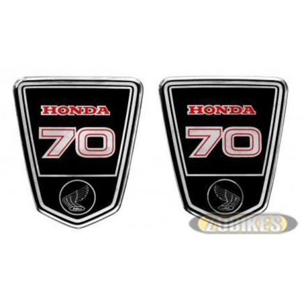 "Sticker écusson de cadre Dax ""HONDA 70"" (D+G)"