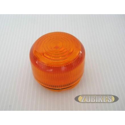 Cabochon orange pour Cligno Dax Old Style (l'unité)