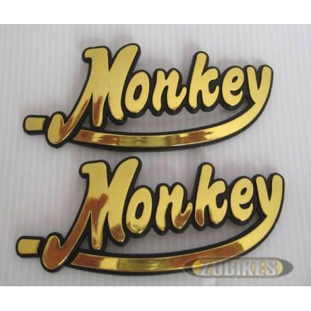 Emblême de réservoir Monkey Or