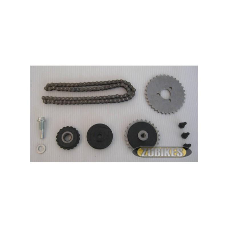 chaine et pignons de distribution 50cc le kit zubikes. Black Bedroom Furniture Sets. Home Design Ideas