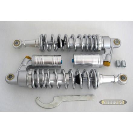 Amortisseurs gaz bonbone chromé 330 mm (la paire)